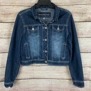 Maurices Jackets & Coats - Maurices Dark Wash Cropped Denim Jacket Size M